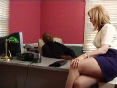 Nina Hartley Takes In The Ass At The Office