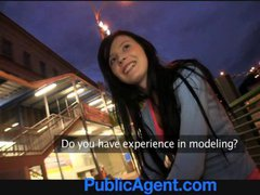 PublicAgent Timea looks great in underwear and...