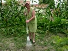 Granny anal outdoor fucking