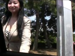 42yr old Maki Nonaka Outside and Creamed (Uncensored)