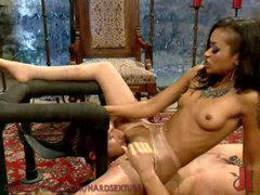 Sexy Skin Diamond Punishes Her Slave Boy