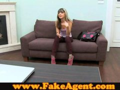 FakeAgent Creampie for Petite Blonde