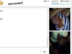 Omegle 87 (2 giggly cousins love my cum)