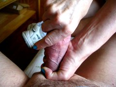 squirtys nips and hard cock squeezing with big drip