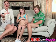 TEEN banged by mom
