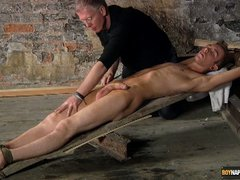 Tied and toyed by the master