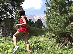 Eroberlin skinny russian teen Julia fuck outdoor italia long hair