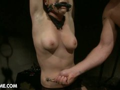 Clarissa punished by two guys