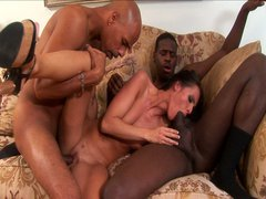 Czech slut likes all things big and black