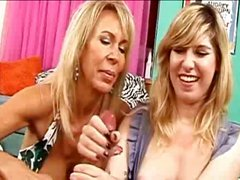 Mom and her daughter try professor's tasty copper stick