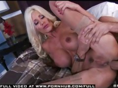 Big Tit Milf anally fucks customers big cock doggystyle for boy toy therapy