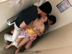 Shy Teen grope and ravished on school toilet