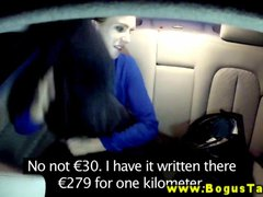 Euro amateur sucks off taxi driver