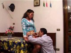 Italian Latina Taboo sex with step Brother in front...