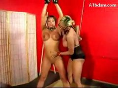 Girl Hanging Tied Legs Whipped Pussy Fucked...