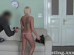 F.A. Casting Blonde can't wait for anal