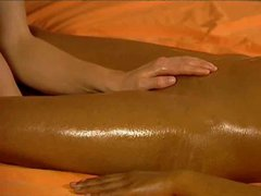 Sexy indian babe enjoys a lesbian massage