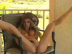 Incredible bombshell Brett Rossi excites and amazes us with her fantastical big round boobs, slender body and long legs dressed in a big hat! Enjoy this perfect solo scene!
