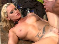 Horny widow nailed by chauffeur