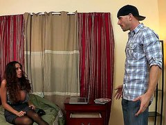 Ariella Ferrera is visiting her son at college. Little does she know shes in the wrong room, she runs into her sons buddy, who just happens to be MILF loving stud Johnny Sins.