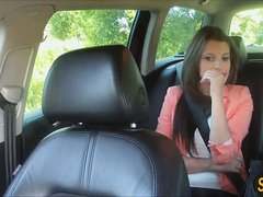 Sexy amateur Liona pays sex for her taxi ride and gets a sticky cumshot