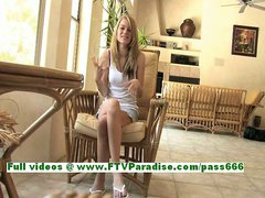 Marianna superb blonde teenage with natural tits talking about her