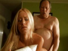 Lucky old fart fucked by a hot young blonde
