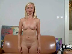 Casting chick Bella Baby poses totally nude after she takes