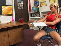 Classroom Spanking For Hot Babe Crista Moore