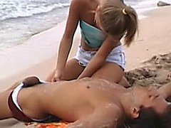 hot babe gets fucked on the beach