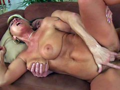 Horny mature sexy Berna with giant natural tits and hairy