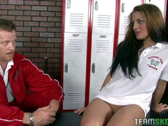 College chick Tommie Ryden is a naughty chick! Coach Chibbles