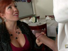 Mature redhead Brittany O'Connell is cock hungry. She satisfies her