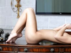 Beautiful Anjelica is sweet dildo lover