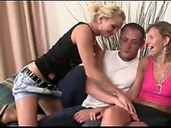 Granny fucks her daughter's BF and GF watches