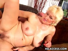 Hottest blonde milf nailed to the max