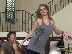 Young chick Faye Reagan is amazing flexible. Charming young girl