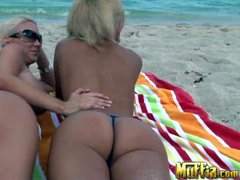 Molly Cavalli and JC Simpson are two topless lesbian blondes