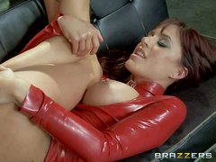 Busty Gia Dimarco has a surprise for Keiran Lee. The