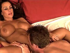 Big titted MILF Lisa Ann takes