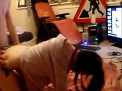 british gf rides bf on the floor