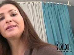 Jessica Fiorentino is a charming brown haired lady with nice
