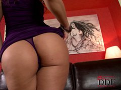 Eve Angel is proud of her juicy european ass. That's