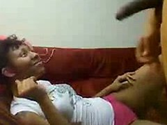 Freaky girl getting her bf horny to fuck