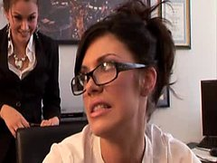 Andy San Dimas and Allie Haze get banged hard by their boss