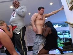Steamy interracial swinging foursome