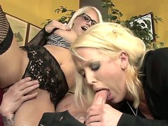Hot blonde mother and daughter Jenson