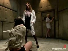 Mental hospital patient Bobbi Star and blond nurse Lorelei Lee