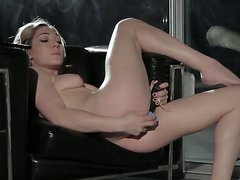 Sexy hardcore toying solo action scene