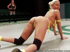 Sexy Babes Wrestle For Pussy